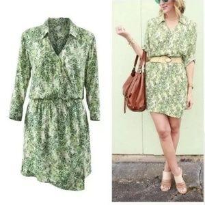 NWT Cabi Leaf Print Wrap Dress